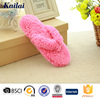 cheap price fuzzy flip flop slippers for women