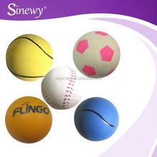 2015 new products solid high bouncing rubber balls for pet play as seen on tv