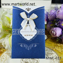2015 best price unique butterfly royal wedding invitation card for wholesale(MWC-013)