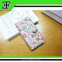 New arrival wholesale lovely flower cheap leather mobile phone case