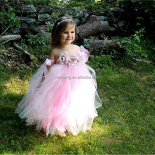 Fashion children summer new frock princess tutu girls printed frock designs
