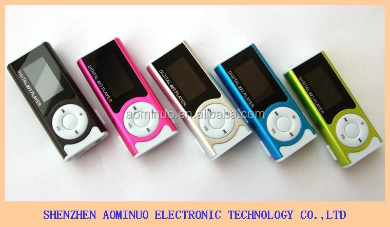 Mini MP3 lecteur de musique 1.3 pouce avec LED lumière mp3 lecteur hindi chansons mp3