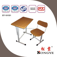 Adjustable single Desk & Chair school desk and chair desk and chair educational furniture