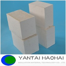 Low thermal conduct sanding surface high density calcium silicate board/pipe cover/bricks/sheet for buildings from Yantai haohai
