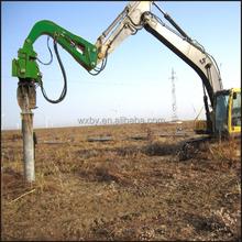 Concrete piles foundation equipment sheet piling hammer