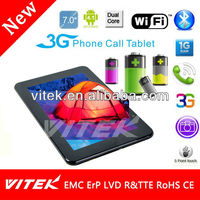 "New 7"" Dual Core Camera ce and rohs tablet pc 7 inch mid"