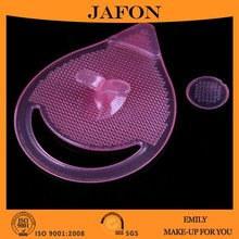 Portable Pink Silicone Facial Cleaning Pad Brush Cosmetic Tool