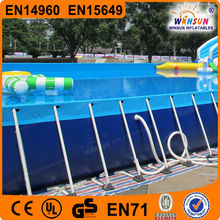 Plastic above ground framed swimming pool inflatable frame pool