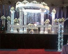 HX002 high quality crystal roman column for wedding decoration