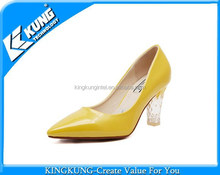 LED light high heel shoes with yellow,pink,blue