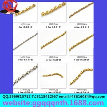 Copper iron stainless steel rice elliptical egg /denier shape length shortwave bead chain