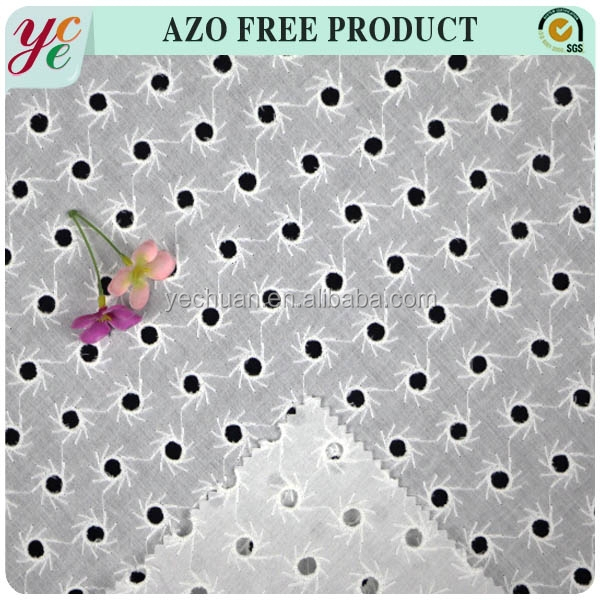 New arrival cotton embroidery eyelet fabric for girl