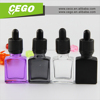 Hot sales and new design glass perfume sample bottle, glass serum bottle, glass skull bottle with child proof dropper