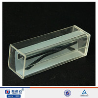 Hot sale cheap clear acrylic/pmma fancy glasses case with single drawer