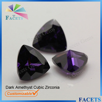Facets Gems Machine Cut Cubic Zirconia Trillion Cut Raw Amethyst Prices Wholesale
