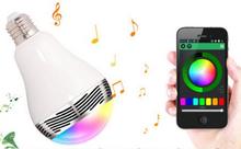 E27 Portable Wireless 7 Colors RGB Music Audio Smart led Bulb bluetooth speaker