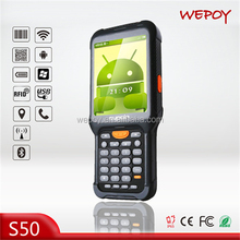 IP67 dual core gprs laser android OS fingerprint reader