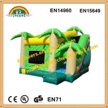Inflatable Tropical Obstacle course with slide inflatable combo