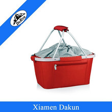 Empty Picnic Baskets cooler with grey lining for Sale DK14-0598/Dakun
