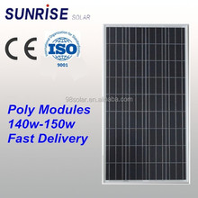 High quality Poly 150W solar panel of factory direct sale made in China