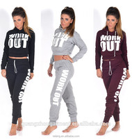Cheap Polyester fleece branded women tracksuits,jogger tracksuit