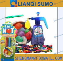 WATER BOMB TERM SET W/72 PCS WATER BALLOONS AND 2PCS SIMPLE WATER BALLOON TYING TOOL and pump filler