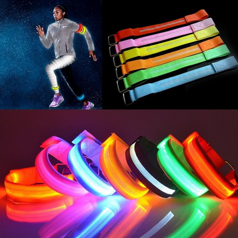 학교 스포츠 마라톤 LED 점멸 완장 반사 완장