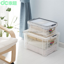 2015 hot selling new clear Plastic Storage container with steel lock