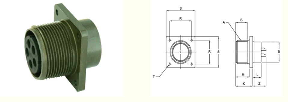 Servo Motor Amphenol Connector Dc Power Connector Types