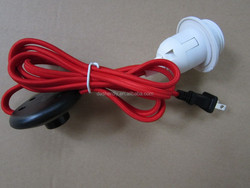 Whole sale cord /UL 2pin plug + vintage cables 2m + 304 switch with E26 lampholder