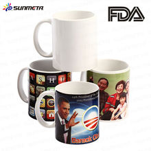 Sunmeta factory supply custom sublimation mugs11oz sublimation white mug