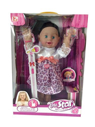 American little star girl baby doll singing toy made by vinyl for child