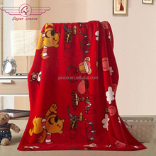 2015 hot item 100% polyester super soft animal printed micro flannel fleece blanket for baby, children blanket