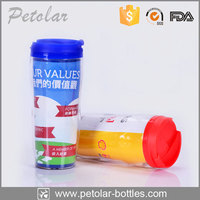 manufacture reusable double wall plastic coffee cup with paper insert