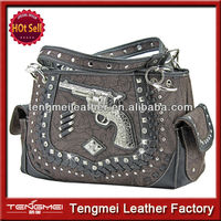 CHINA WESTERN BLING STUDDED SINGLE GUN CONCEALED CARRY PURSE FOR SALE
