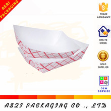 1 color printed french fries packaging paper boat tray with glued packed