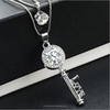 2 layer chain necklace for lover, rhinestone love key necklace(SWTJU786)