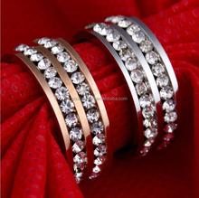 Stainless Steel Diamond Fashion Ring