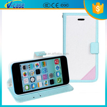 Good Price Cheap Mix Color Folio Wallet PU Leather Guitar Case For iphone 5c