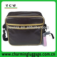 Leather men laptiop menssenger bag