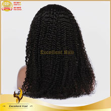 free samples Chinese human hair wigs 100% human hair kinky curly lace front wig with baby hair