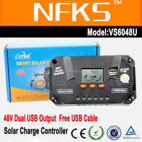 60a outback solar charge controller 48v smart LCD dual usb 5v 3a