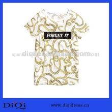 China fabricante de ropa de mujer de moda de gran tamaño impreso t- shirt