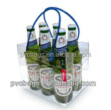 four/six pack ice wine bag with handle