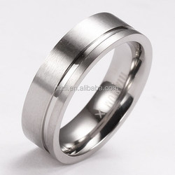 R1200 polished titanium ring finger band