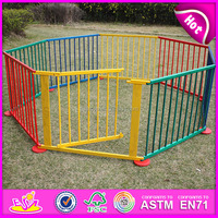 Cartoon design Safety Care Folding wooden baby playpen fence W08H006-A2