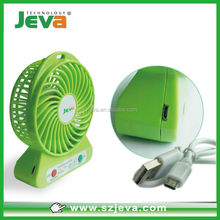 Portable Small Fan & Mini-air Conditioner, Runs On Batteries Or USB--Green