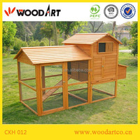 Solid wood roof large chicken coops with run