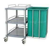 Hospital Ward Bed Linen Dress Changing Cloth Trolley / Cart