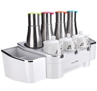 Smart Condiment Station for Salt, Sugar, MSG, Soy Sauce, Vinegar, Olive Oil... Storage